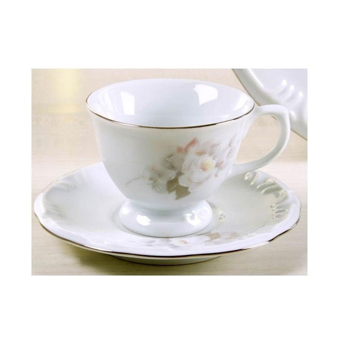Xícara Chá Pires 20 Linha Pomerode Vitória Porcelana Schmidt