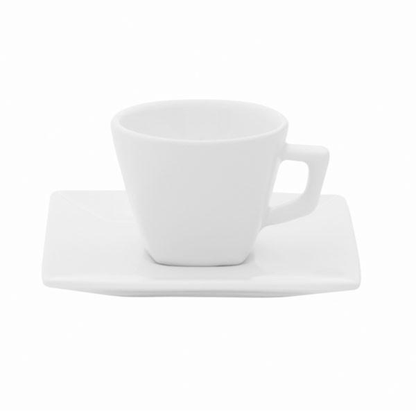 Xícara de Chá 200ml com Pires 14cm Quartier White Oxford