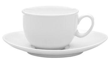 Xícara de Chá 200ml Com Pires 17cm Loop White Oxford