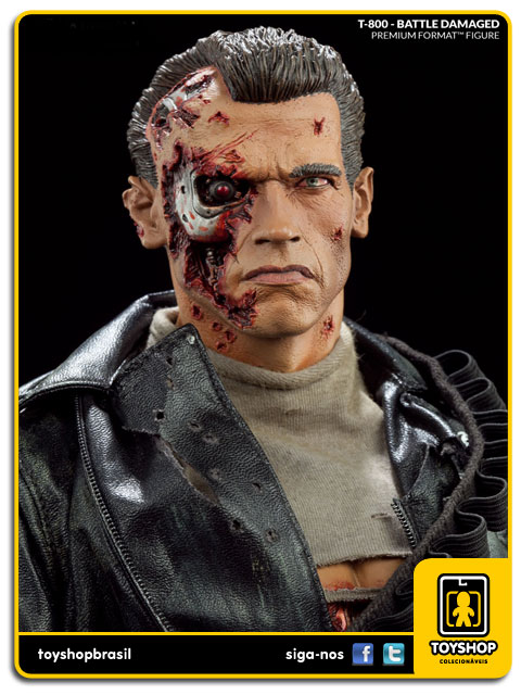 Terminator 2 Judgment Day: Estátua T-800 Battle Damaged Premium Format - Sideshow