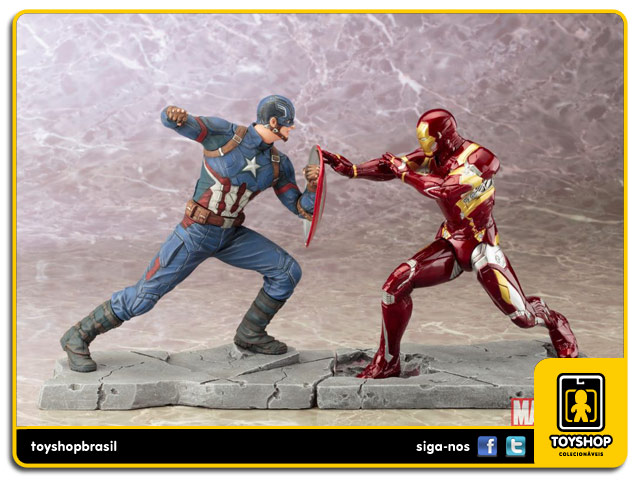 Captain America Civil War:  Captain America 1/10 Artfx - Kotobukiya