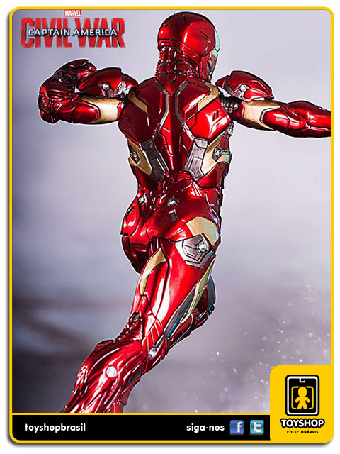 Captain America Civil War Estátua Iron Man XLVI Art Scale 1/10 - Iron Studios