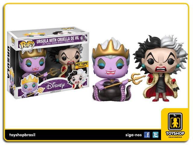 Disney Ursula & Cruella de Vil Hot Topic Exclusive Pop - Funko