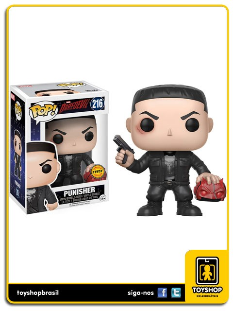 Marvel Daredevil Punisher Chase 216  Pop  Funko