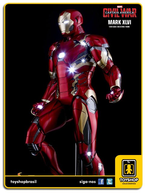 Captain America Civil War Iron Man Mark XLVI Power Pose 1/6 - Hot Toys