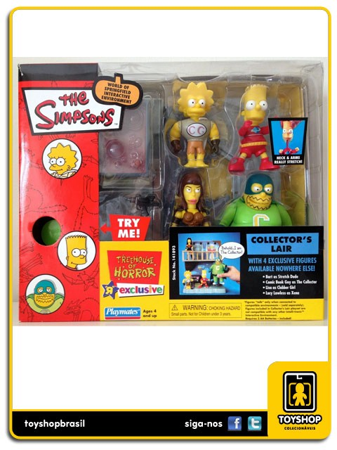 The Simpsons Collector´s Lair Box 4 Figuras Exclusivo Playmates