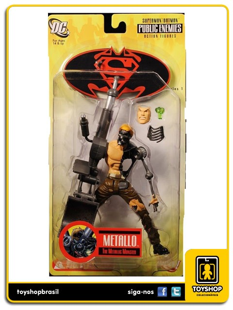 Superman Batman Public Enemies Metallo   Dc Direct