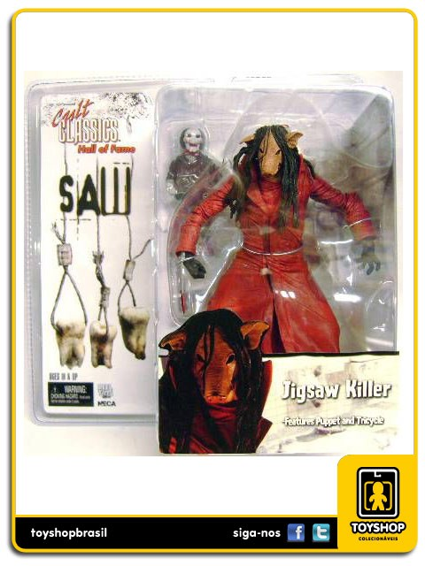 Cult Classics Hall of Fame Saw III Jigsaw Killer Pig Neca