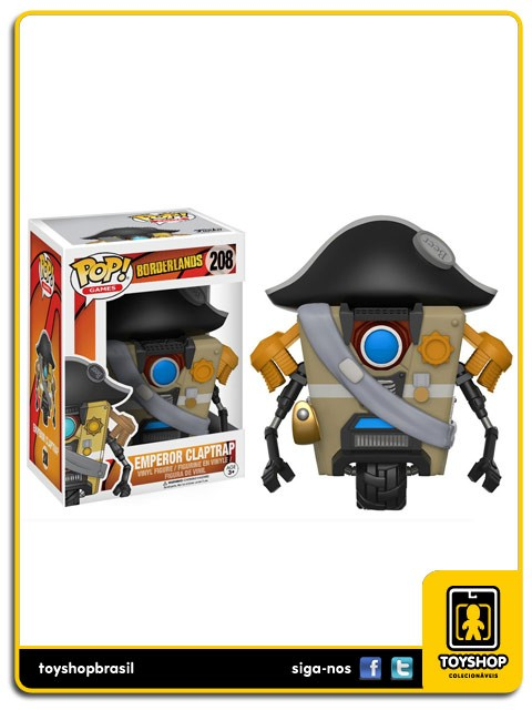 Borderlands Emperor Claptrap 208 Pop  Funko