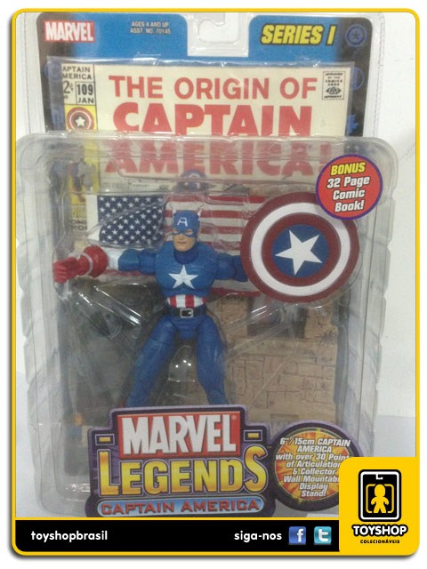 Marvel Legends Series I Captain America Toy Biz