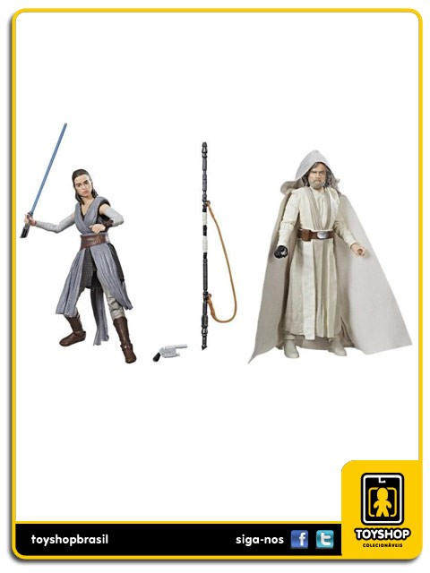 Star Wars The Last Jedi Black Series Luke Skywalker & Rey SDCC Hasbro