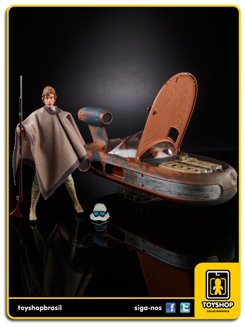 Star Wars The Black Series X-34 Landspeeder & Luke Skywalker SDCC Hasbro