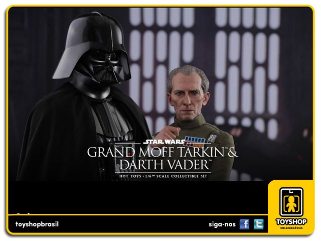 Star Wars 40th Anniversary A New Hope Grand Moff Tarkin & Darth Vader 1/6  Hot Toys