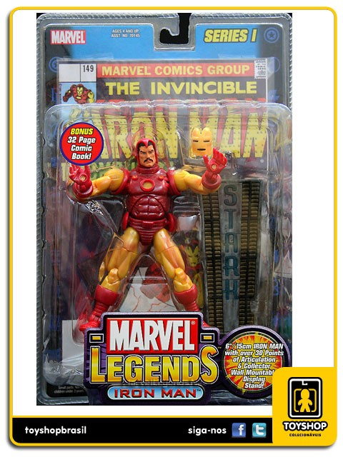 Marvel Legends Series I The Invincible Iron Man Toy Biz