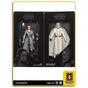 Star Wars The Last Jedi Black Series Luke Skywalker & Rey SDCC Hasbro