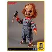 Child´s Play: Talking Scarred Chucky 38 Cm Com Sons - Mezco