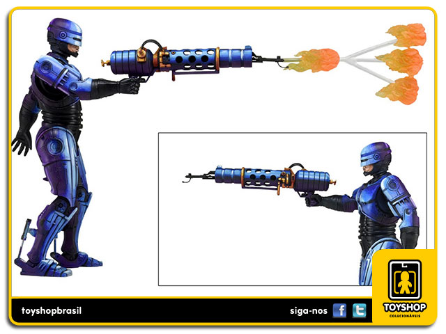 RoboCop vs Terminator: RoboCop with Flame Thrower - Neca