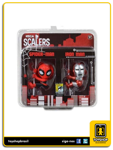 Marvel Scalers: Spider-Man e Iron Man - Neca