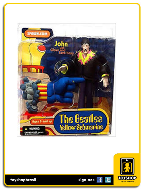 The Beatles Yellow Submarine: John with Glove and Love Base - Mcfarlane