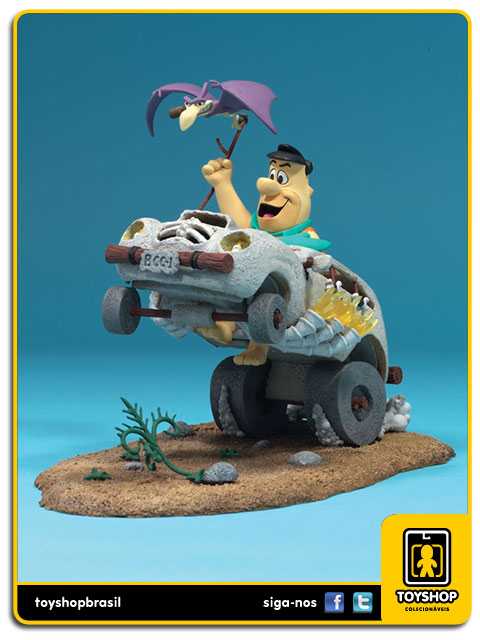 Hanna Barbera: Fred Flintstone in Cruiser - Mcfarlane