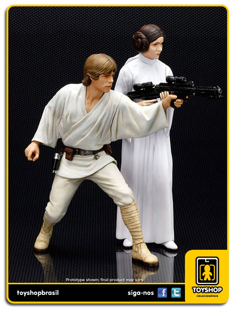Star Wars: Luke Skywalker & Princess Leia Artfx - Kotobukiya
