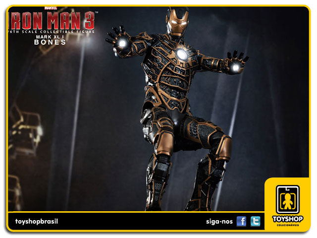 Iron Man 3: Iron Man Mark XLI Bones - Hot Toys