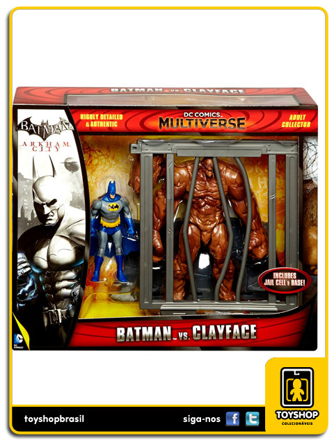 Dc Comics Multiverse: Batman vs Clayface Arkham City - Mattel