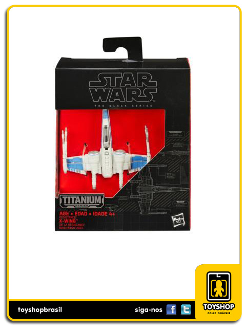 Star Wars The Black Series Titanium: X-Wing de la Résistance - Hasbro
