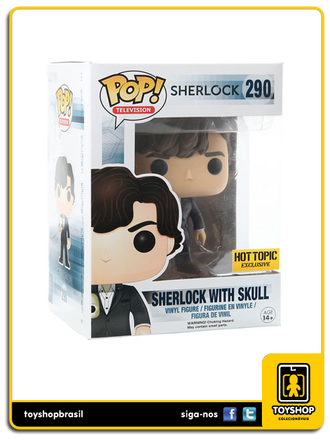 Sherlock: Sherlock With Skull Hot Topic Exclusive Pop - Funko