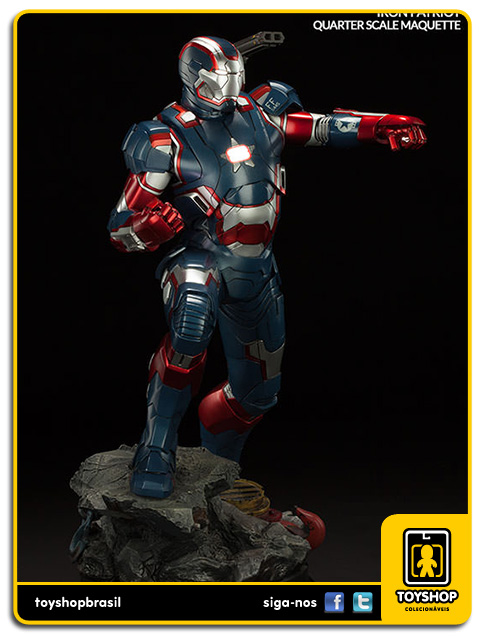 Iron Man 3: Iron Patriot Maquette - Sideshow Collectibles