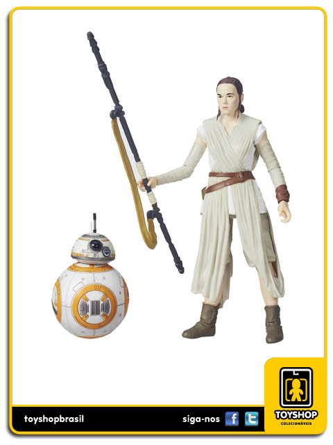 Star Wars The Force Awakens Black Series: Rey Jakku e - Hasbro