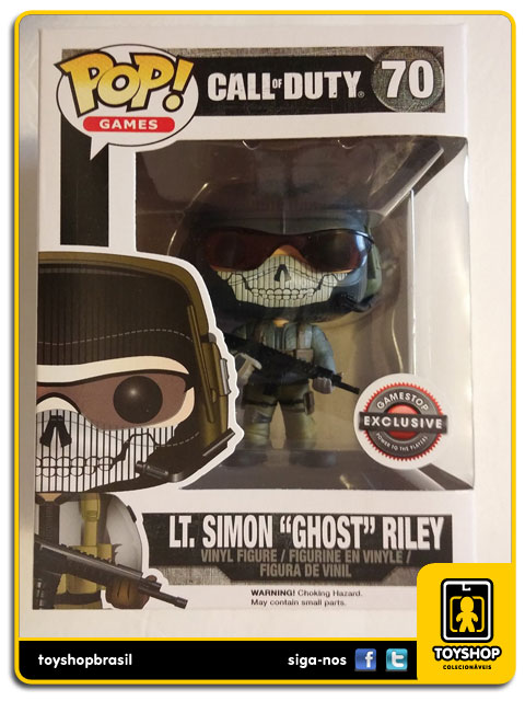 Call of Duty: LT.Simon ¨Ghost¨ Riley GameStop Exclusive  Pop - Funko