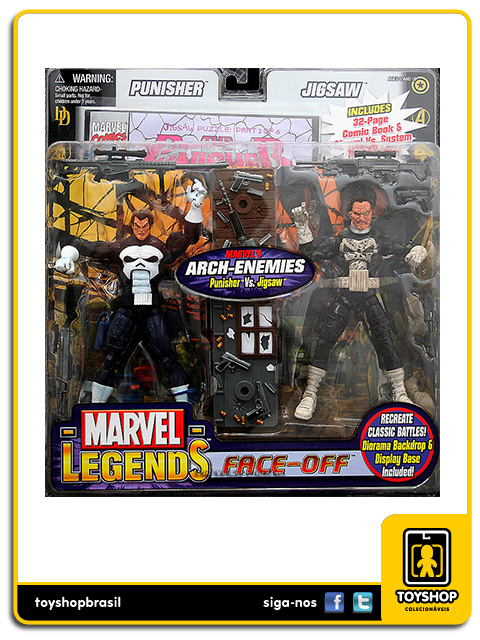 Marvel Legends Face-Off: Punisher vs Jigsaw - Toy Biz