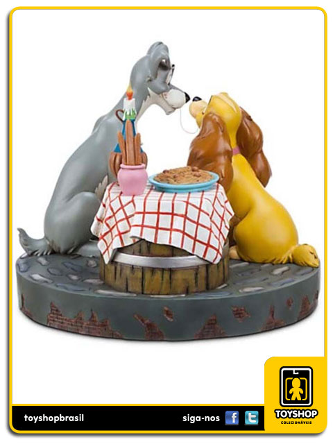 Estátua: Lady & The Tramp - Disney