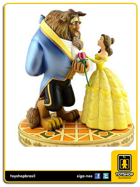 Estátua Beauty And The Beast - Disney