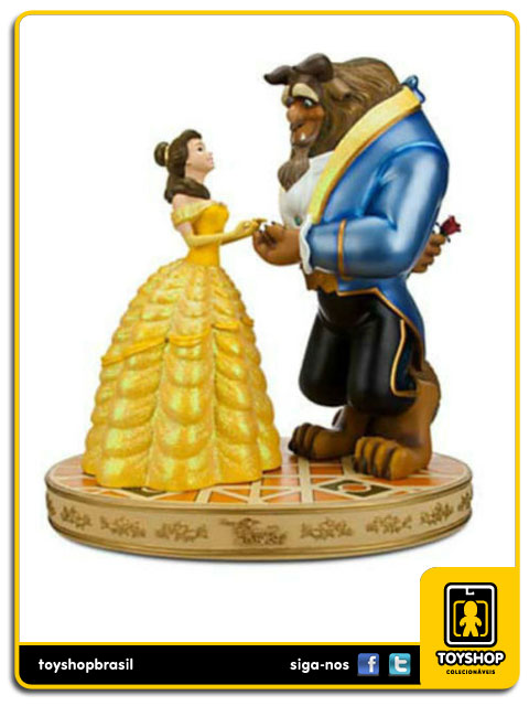 Estátua Beauty And The Beast - Disney