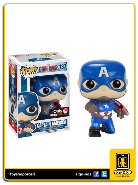 Captain America Civil War: Captain America GameStop Pop - Funko