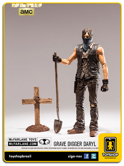 The Walking Dead 9: Grave Digger Daryl Variant - Mcfarlane
