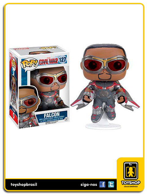 Captain America Civil War: Falcon Exclusivo Pop - Funko