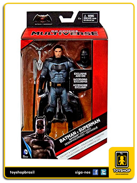 Batman vs Superman: Unmasked Batman Exclusivo - Mattel