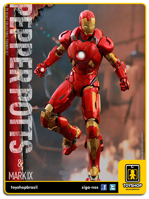 Iron Man 3: Pepper Potts & Iron Man Mark IX - Hot Toys