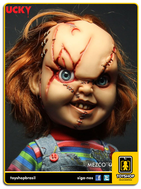 Child´s Play: Talking Scarred Chucky 38 Cm Com Sons - Mezco