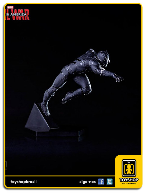 Captain America Civil War: Estátua Black Panther Art Scale 1/10 - Iron Studios
