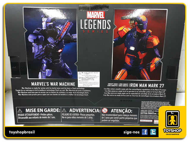 Marvel Legends Captain America Civil War: War Machine & Iron Man Mark XXVII Pack 2 Figuras - Hasbro