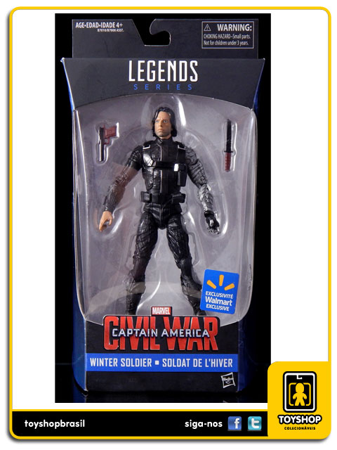 Marvel Infinite Captain America Civil War: Winter Soldier Exclusivo - Hasbro