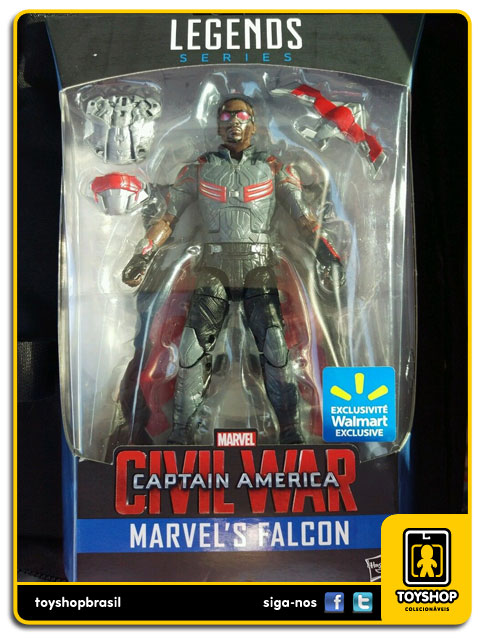 Marvel Infinite Captain America Civil War: Falcon Exclusivo - Hasbro