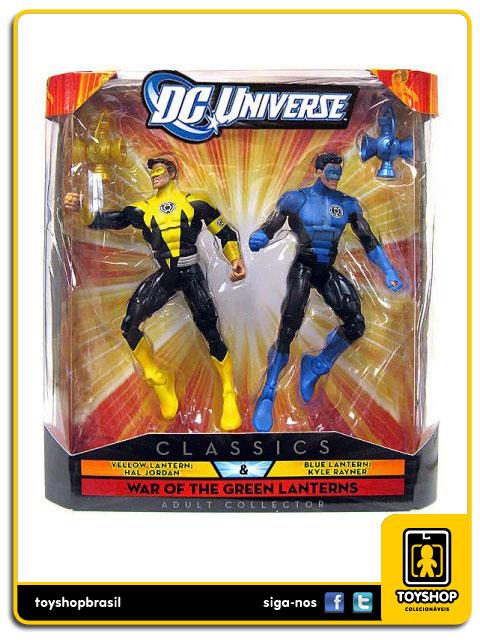 Dc Universe: Yellow Latern Hal Jordan & Blue Lantern Kyle Rayner - Mattel