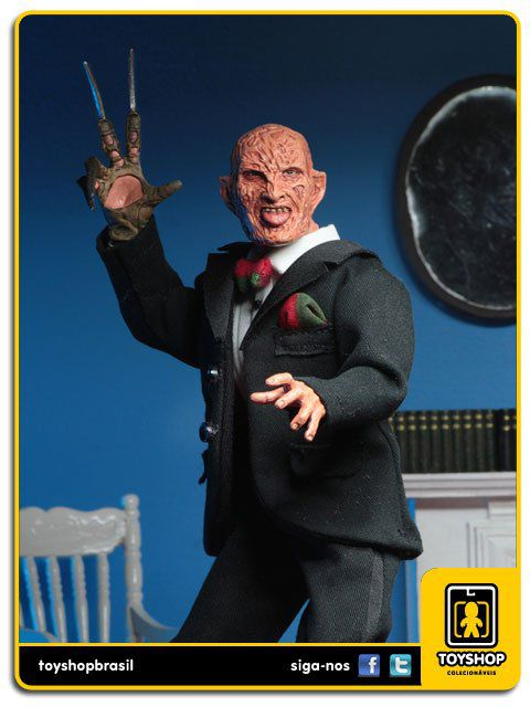 A Nightmare on Elm Street Part 3 Tuxedo Freddy Krueger 8´  Retro  Neca