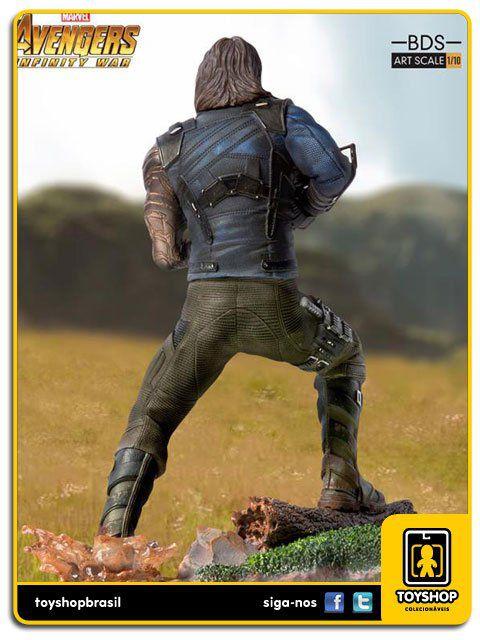 Avengers Infinity War Estátua Winter Soldier Art Scale 1/10  Iron Studios