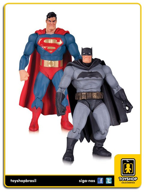 Batman The Dark Knight Returns Batman and Superman 30th Anniversary 2 Pack Dc Collectibles